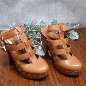 BCBGirls Wood Platform Shoes - EUC